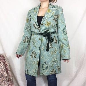 Cabi Guinevere brocade tapestry long jacket  371